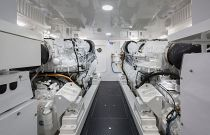 Viking Yachts 72C Engine Room