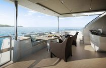 Princess Yachts 30 meter Cockpit Dining Area