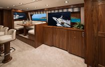 Viking Yachts 72C Teak Entryway TV
