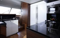 Princess Yachts 88MY Stainless Steel Galley Refrigerator