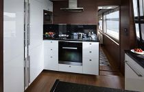 Princess Yachts 88 Galley Cooktop