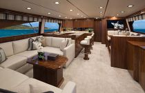 Viking Yacht 72C Salon Forward