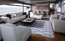 Princess Yachts 88 Living Room Sunlight
