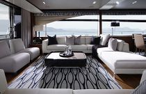 Princess Yachts 88MY Salon Entertaining Area