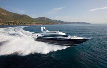 Princess Yachts 82 Moto Yacht Blue Hull