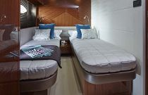 Princess Yachts 82 MY  Bunk Berth Cabin
