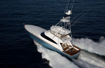 Viking Yachts 72 Convertible Port Side Running Image