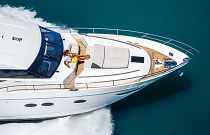 Princess Yachts 82 MY Bow Sunpad and Portuguese Seating