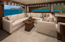Viking Yachts 72C Salon Sofa